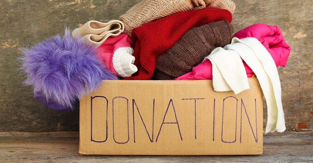 clearing clutter donate charity