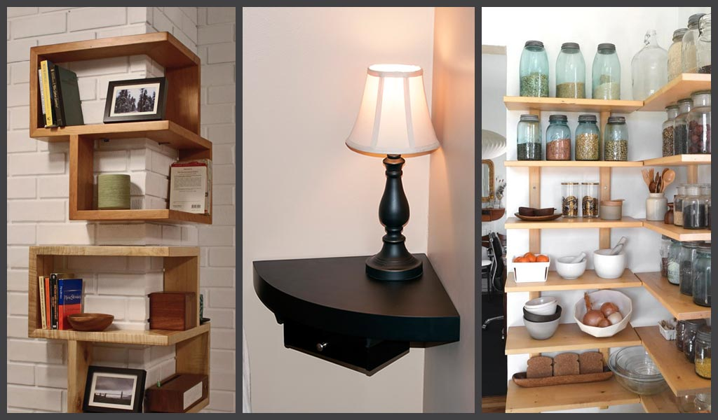 corner shelving small home storage 9 Clever