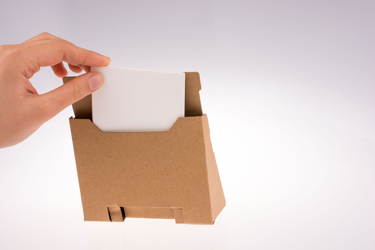 8 brilliant uses for cardboard boxes xtraspace if youre looking for a free easy and environmentally friendly way to display your business cards a sturdy small cardboard box will do the trick reheart Image collections
