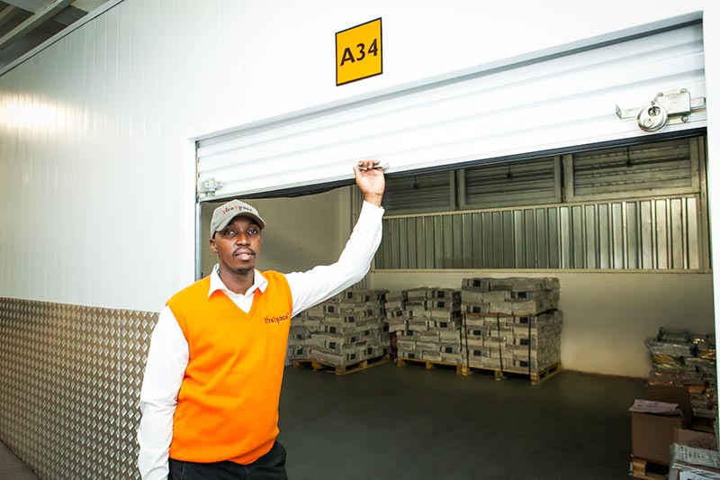 A storage unit at XtraSpace Durban Central