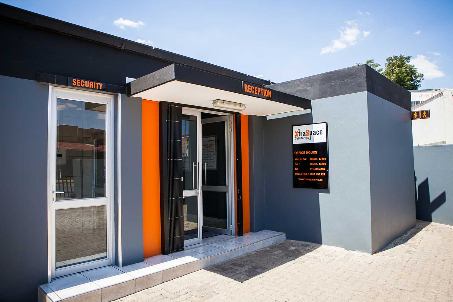 Entrance to XtraSpace Booysens
