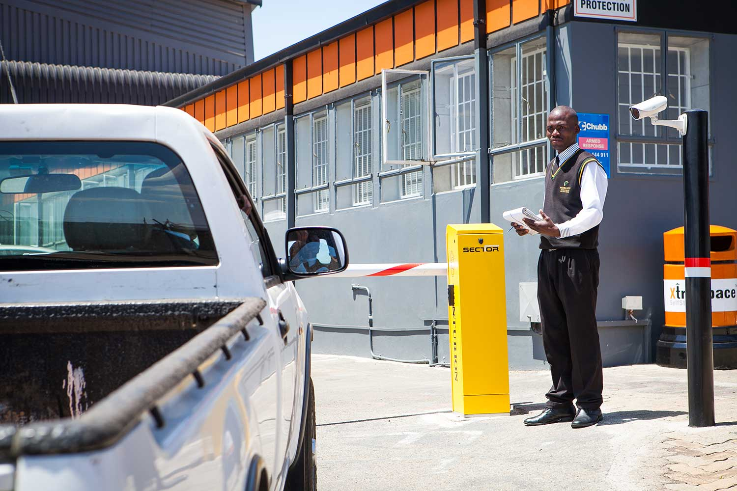 Security at XtraSpace Booysens storage facility