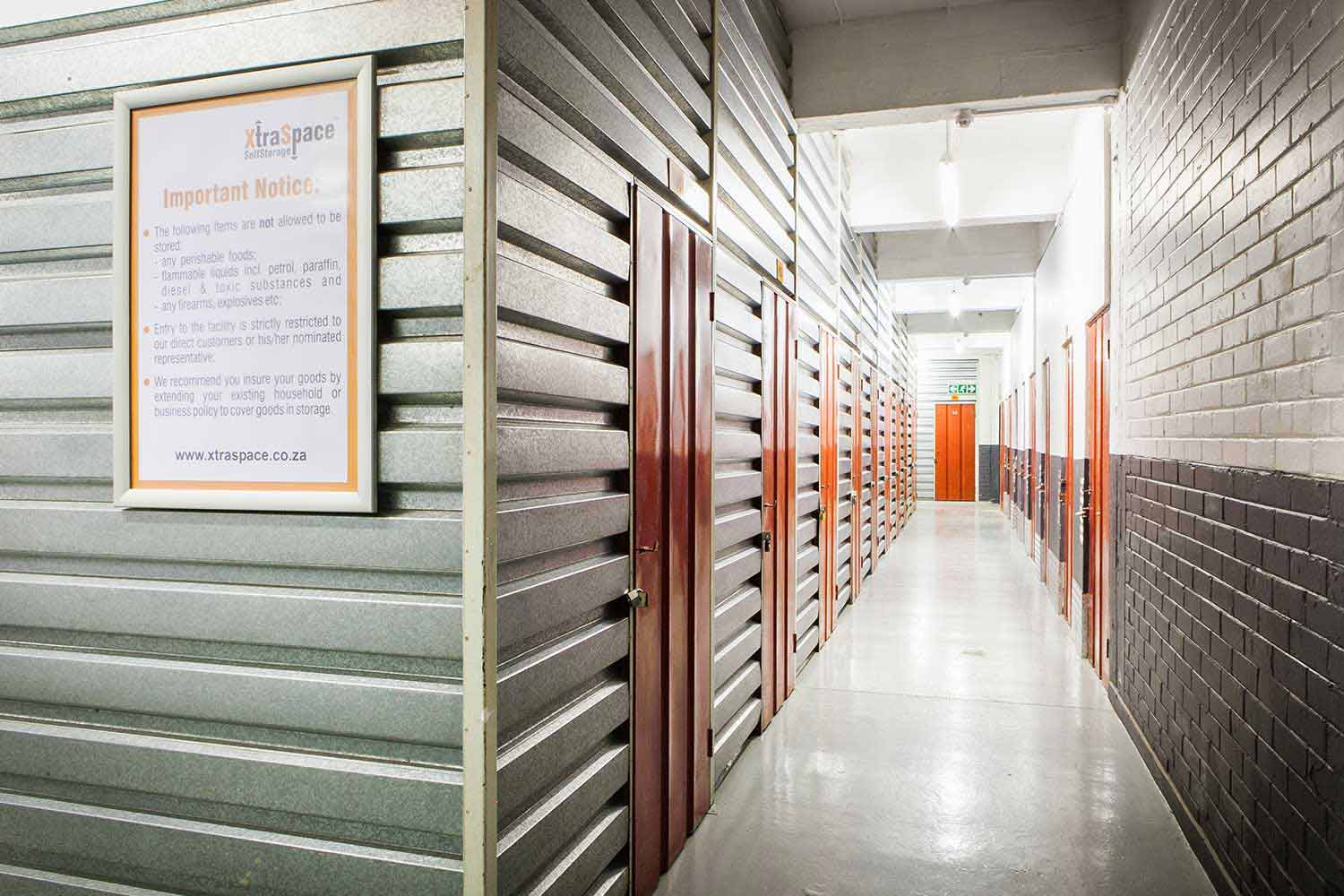 Self storage units at XtraSpace Johannesburg Central