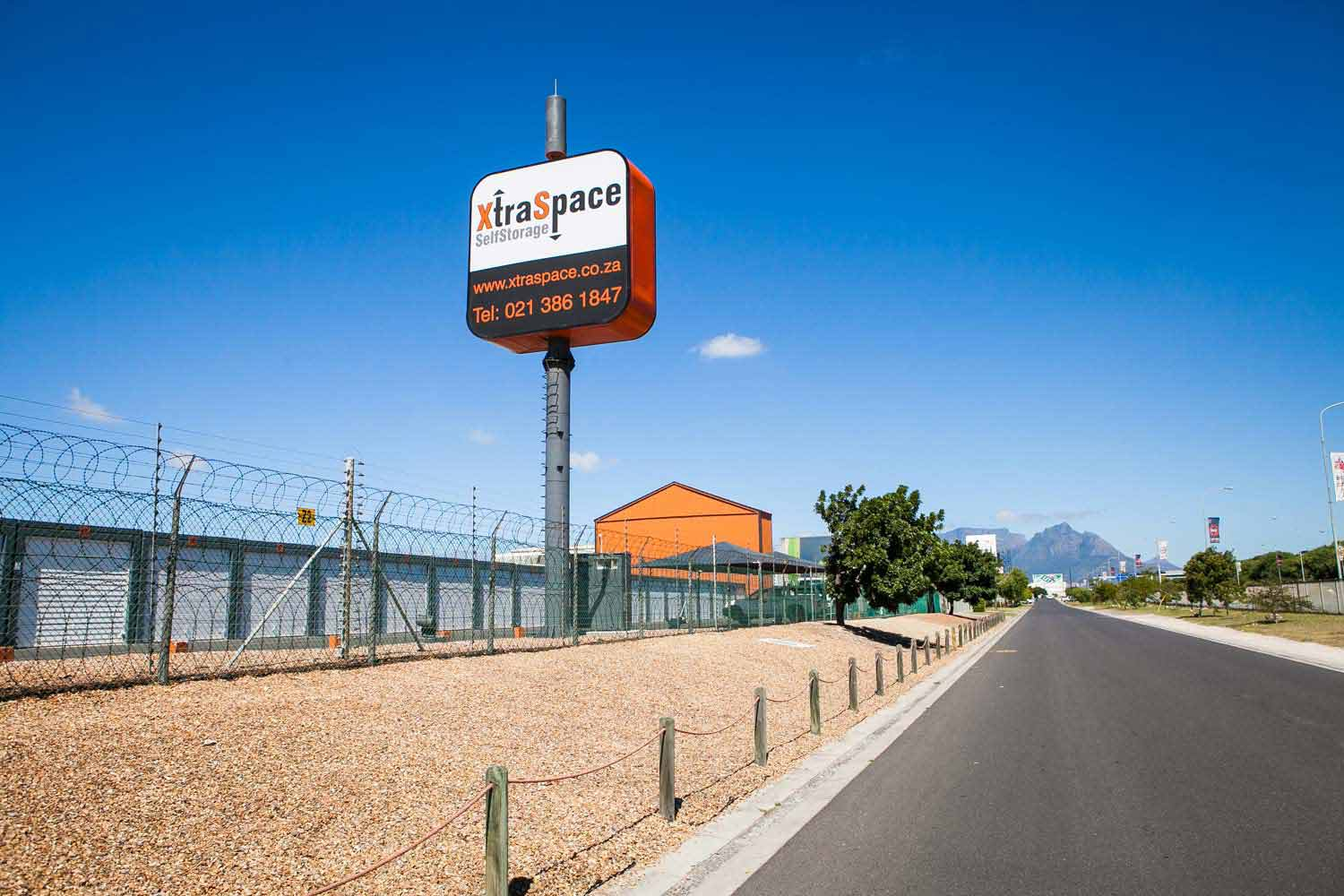 Street view of the XtraSpace Cape Town Airport self storage facility