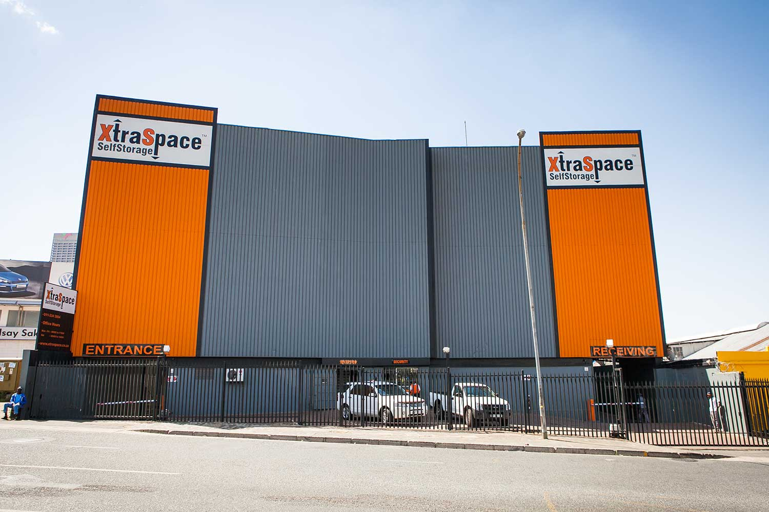 Street view of the XtraSpace Johannesburg Central self storage facility