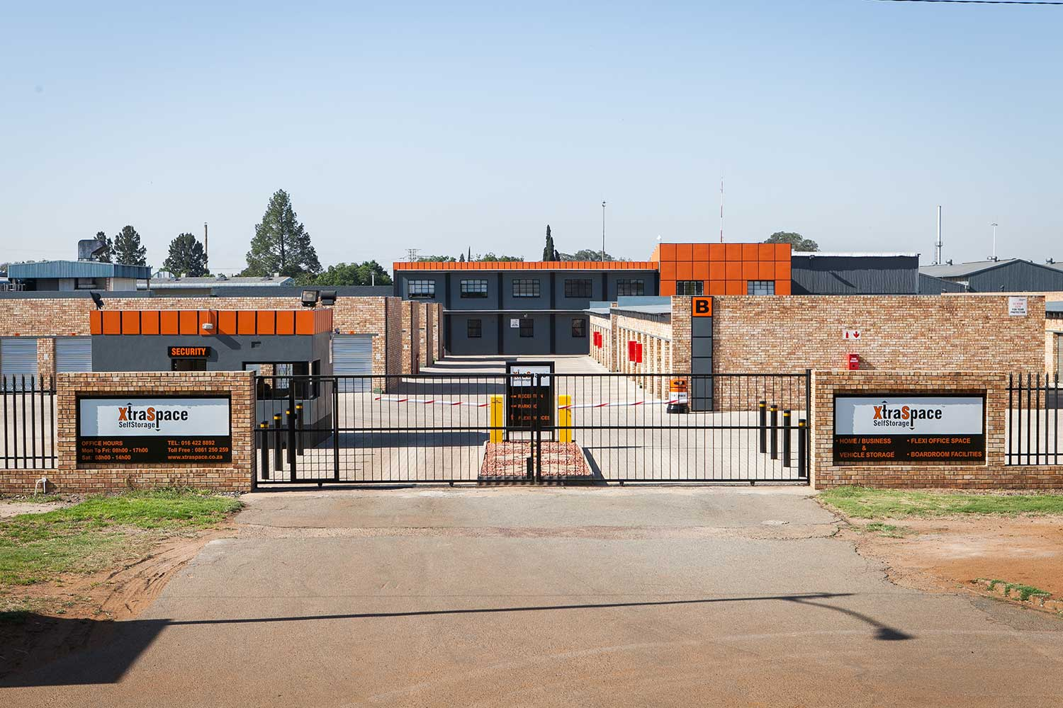 Street view of the XtraSpace Vereeniging self storage faciltity