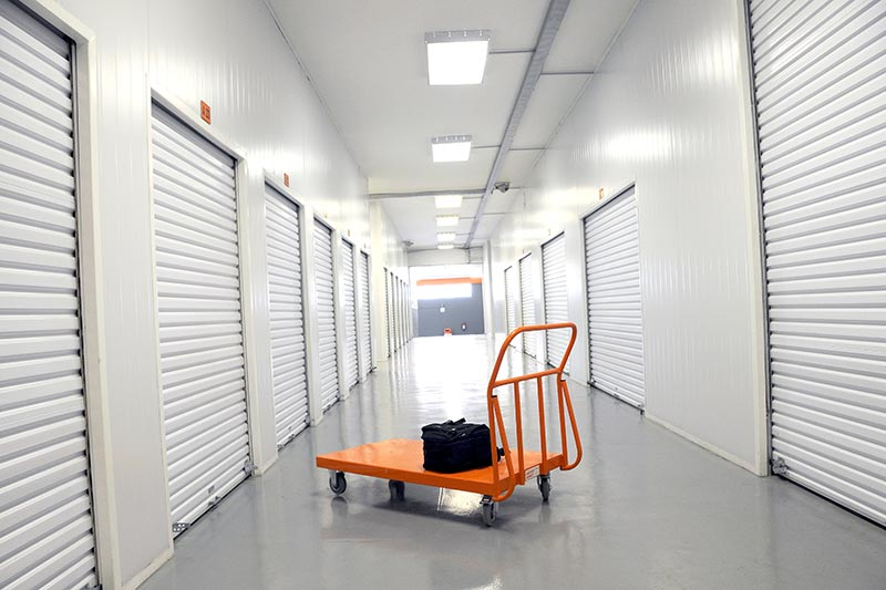 A trolley at an XtraSpace storage facility