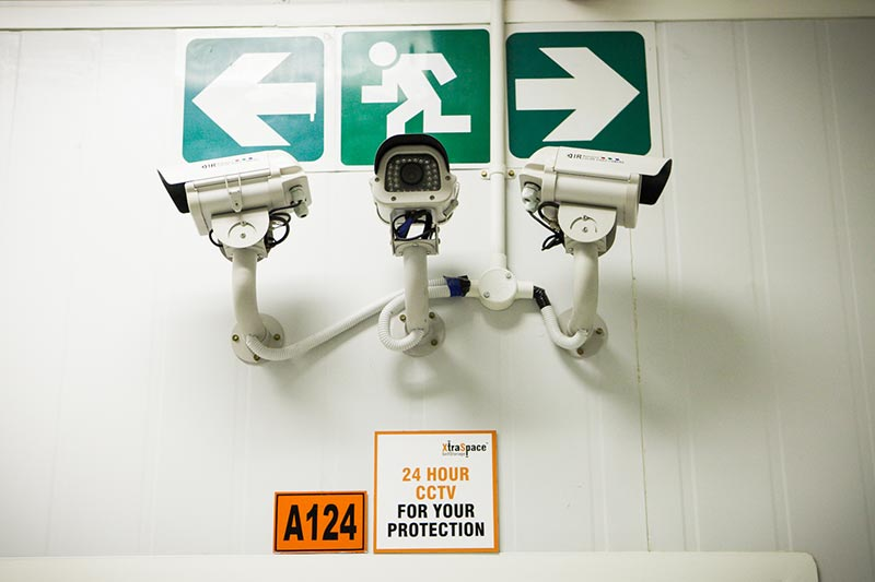 Security cameras at the XtraSpace JHB CBD branch