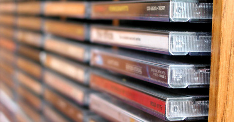 storing CDs, DVDs and LPs