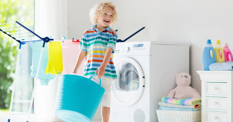 getting kids to help clean up