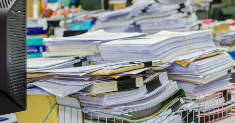 files folders business office unfiled piles self-storage