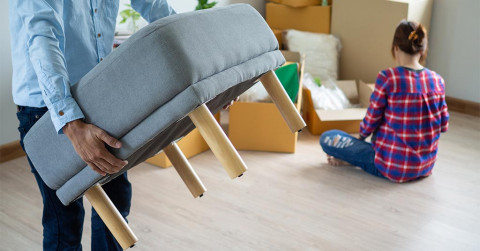 preparing furniture for storage