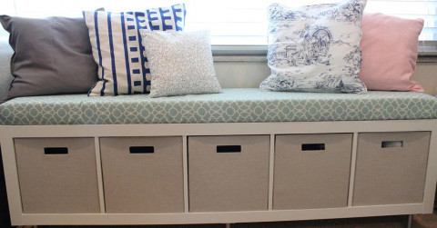 lounge couch bench storage