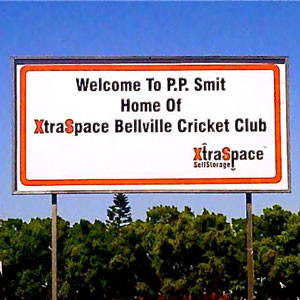 XtraSpace Bellville Cricket Club sign