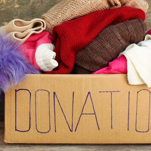 clearing clutter donation charity