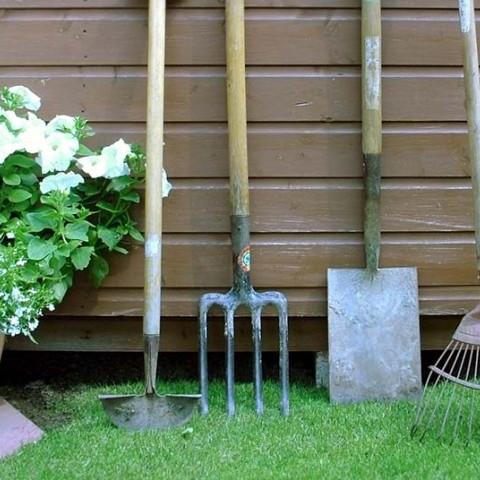 storing gardening equipment