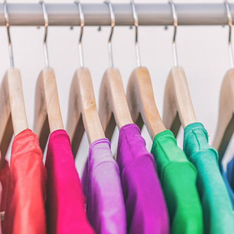 storing textiles and clothing