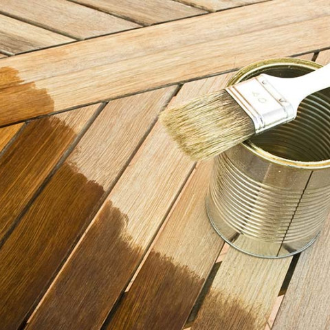 sealing a wooden table for winter and rain protection