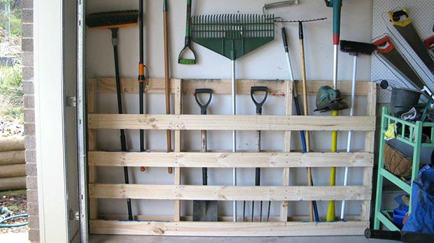 wall storage garden shed gardening tools