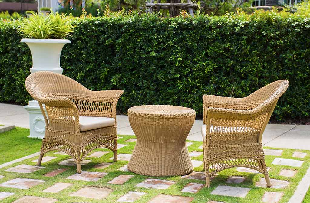 wicker outdoor armchairs lawn furniture
